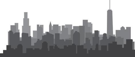 Free hand sketch of New York City skyline vector