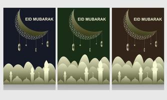 Eid flyer design free vector template