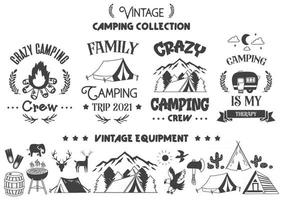 Camping quote illustration Vector for banner