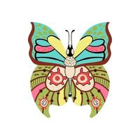 Butterfly abstract pattern on wing Insect vector