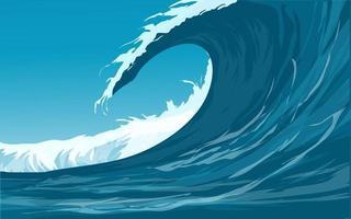 Vector Illustration Of Ocean Waves