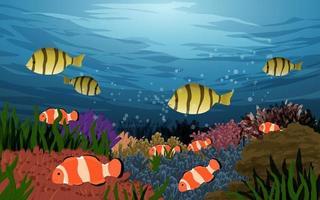 Illustration Of Ocean Underwater Landscape vector