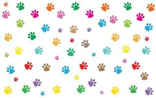 Dog and cat paw pattern background vector