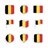 Belgium Flag Icons Set vector