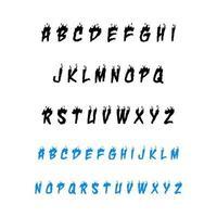 Modern Fire Alphabet Font A to Z vector