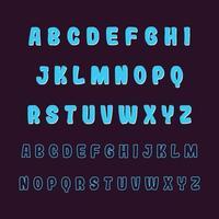 Stylish Cartoon Alphabet Font A to Z vector