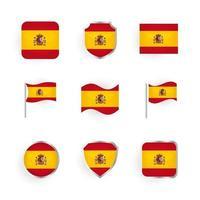 conjunto de iconos de la bandera de españa vector
