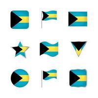 Bahamas Flag Icons Set vector