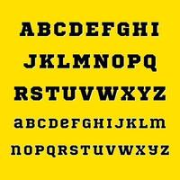 Old School Alphabet Font A to Z vector