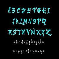 Modern Japanese Alphabet Font A to Z vector