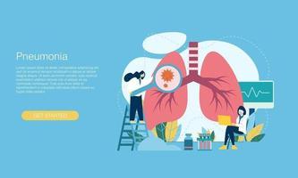Pneumonia corona virus vector illustration concept