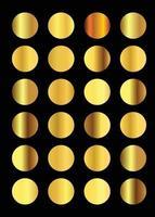 Golden gradient collection set vector