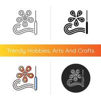 Paper quilling icon vector