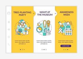 Gathering money campaign ideas onboarding vector template