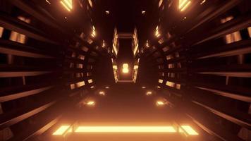 Sci fi passage with neon illumination 4K UHD 3d illustration photo