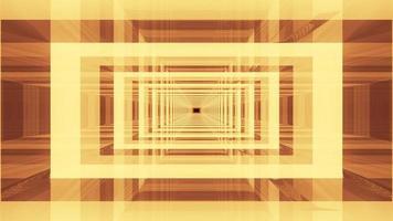 Symmetric 4K UHD 3d illustration of glass tunnel photo