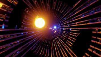 3d illustration of 4K UHD illuminated futuristic tunnel photo