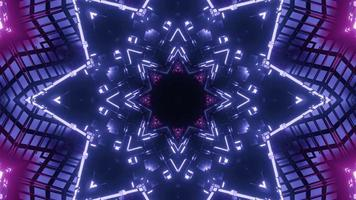 3d illustration of 4K UHD shiny geometric corridor photo