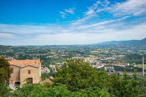 landscape of narni scalo seen from the fortress of narni photo