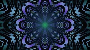 Surreal flower shaped neon pattern 4K UHD 3d illustration photo