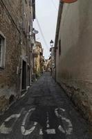 architecture of alleys and buildings in the town of Nepi photo