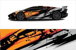 Fondo abstracto de carreras gráfico de envoltura de automóvil para envoltura y adhesivo de vinilo vector