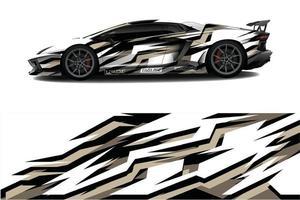 Diseño de calcomanías para envolver autos deportivos. vector