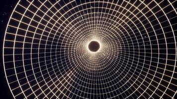 rasterwormgat op de gloeiende sterrenhemel video