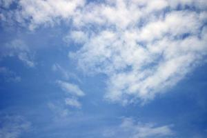 Blue sky with cloud background photo