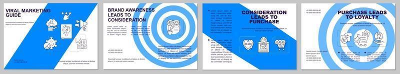 Viral marketing guide brochure template vector
