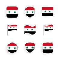Syria Flag Icons Set vector