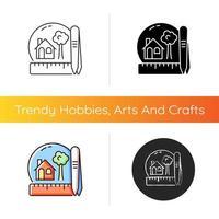 Creating miniatures icon vector