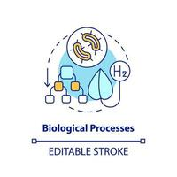Biological processes for hydrogen concept icon vector