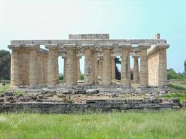 archaeological excavations paestum in naples photo