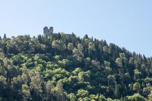 ancient fortress above the village of piediluco photo