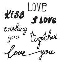 valentines day calligraphy vector