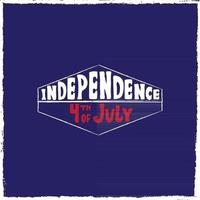 Vector illustration of label Independence day