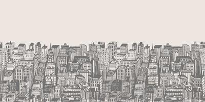 Horizontal banners of big city with skyscrapers. vector