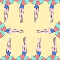 Vector pattern women