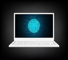 notebook finger security vector