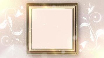 Blank empty frame video background