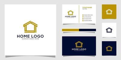 vector de plantilla de diseño de logotipo de casa casa con diseño de tarjeta de visita