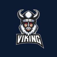 mascota esport logo de viking ilustración vector