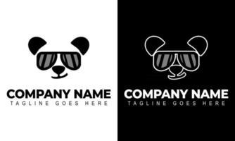 Panda Head Logo Design Template. Modern Design. Panda logo. vector