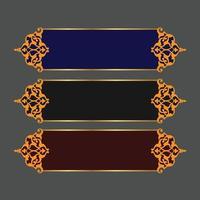 Set of Islamic Banner Design Vector image with Frame Corner