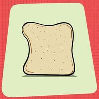 Slice of Bread Loaf with Shadow vector