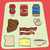 common food items found in every house vector