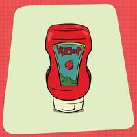 Sqeeze bottle of Ketchup vector