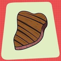 Big Fat Slice of Grilled Steak. Tagliata vector