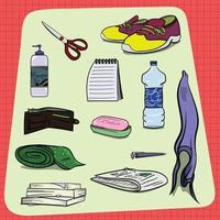 Big Set of Random Everyday Household Objects vector